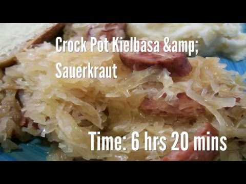 Crock Pot Kielbasa & Sauerkraut Recipe