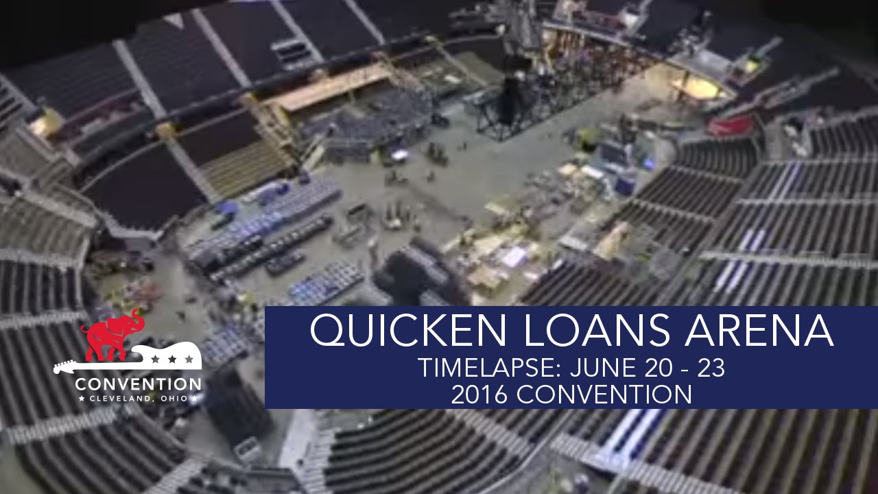 Seating charts quicken loans arena official website - Timelapse June 20 23 Quicken Loans Arena 2016 Republican National Convention