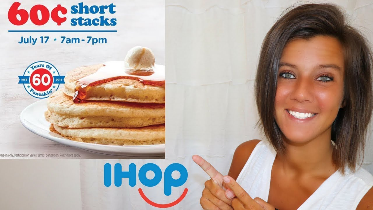 $0.60 Short Stack Pancakes at IHOP - July 17th! - YouTube