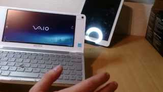SONY VAIO VGN-P11Z Unboxing  - replacement for Teclast X98 Air II