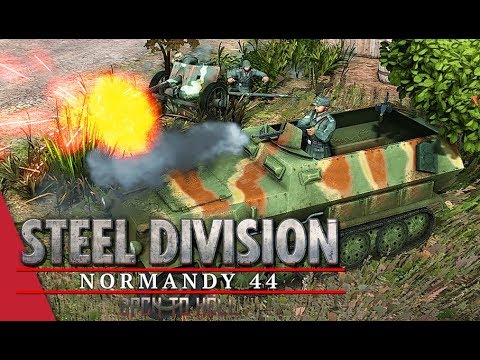 2nd Panzer Showcase! Steel Division: Normandy 44 Gameplay (Odon, 4v4)