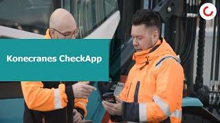 Aumentar o tempo de operação e a segurança com Konecranes CheckApp e a inspeção diária