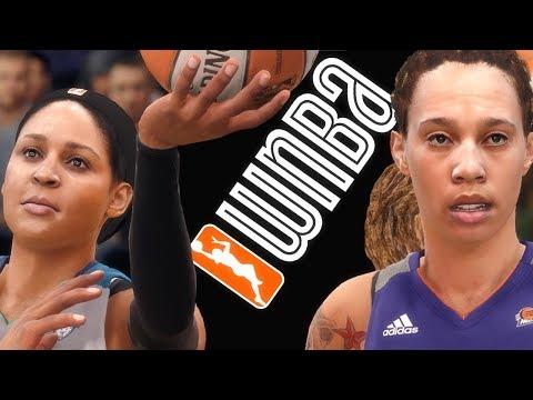 WILDEST WNBA GAME EVER ft MAYA MOORE & BRITTNEY GRINER! NBA Live 18 Gameplay