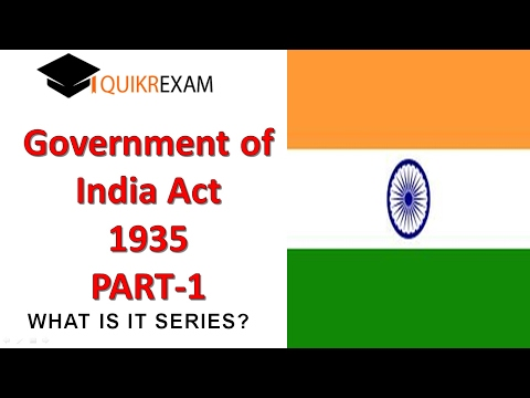 government of india act 1935 part 1