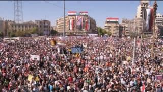 Halep'te Esad rejimine destek gösterisi