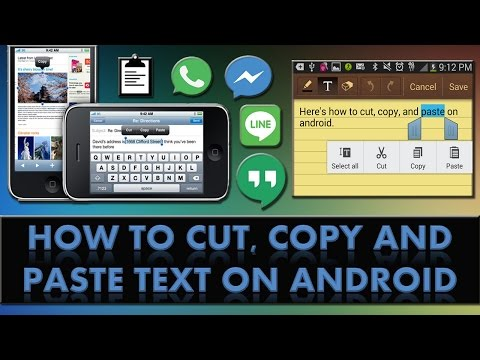 How To Cut Copy And Paste Text On An Android Phone