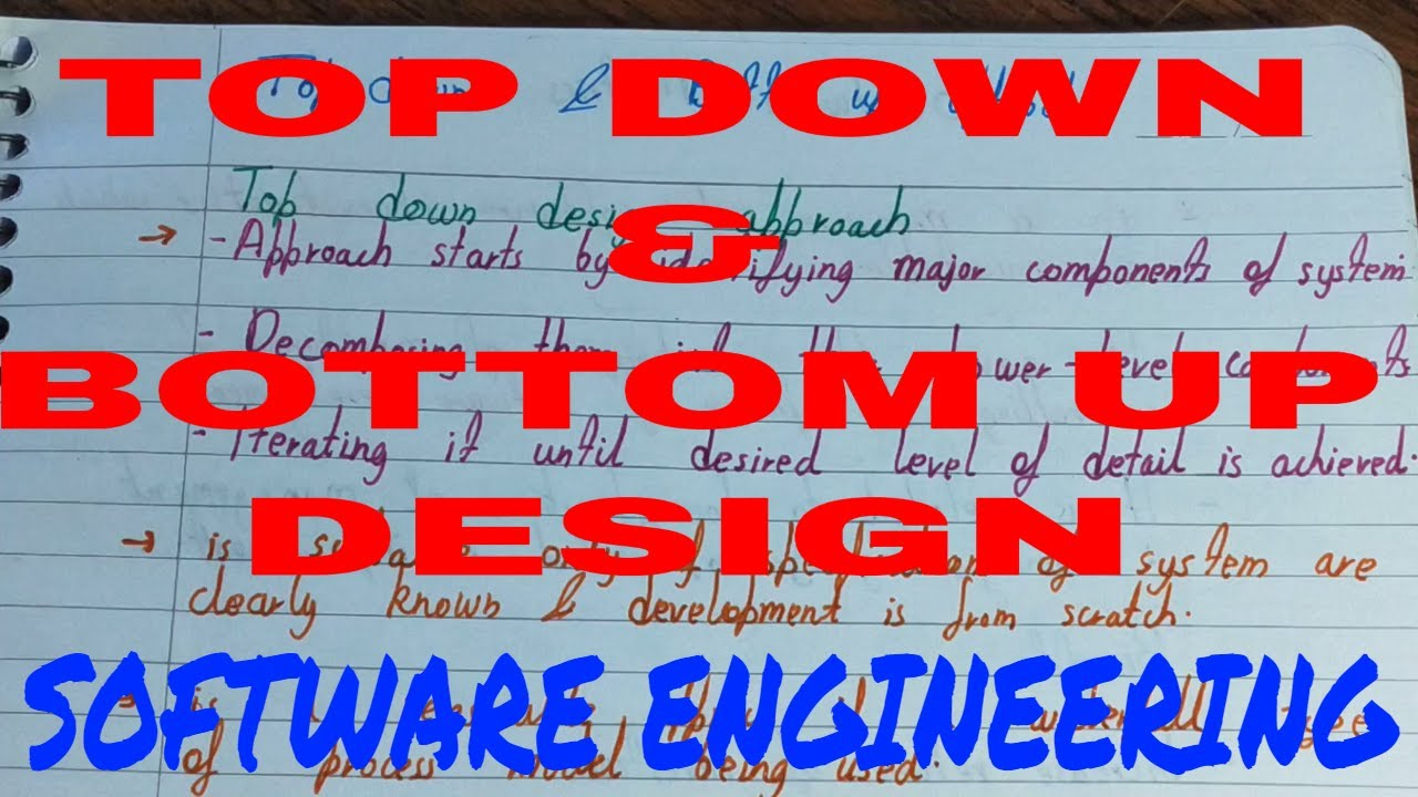 Top Down And Bottom Up Design In Software Engineering Top Down Approach Bottom Up Approch Youtube