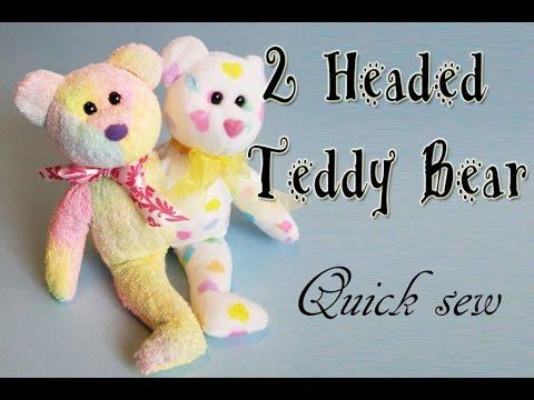 Sewing a 2 Headed Teddy Bear recycling