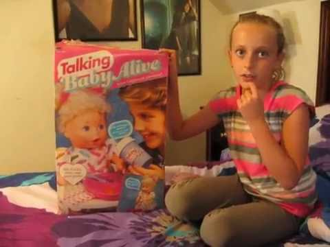 The First Talking Baby Alive 1992 Vintage Youtube