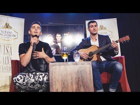 Spontaniškas Donato Montvydo ir Justino Jankevičiaus duetas