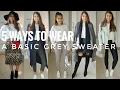 5 Ways to Wear a Grey Sweater