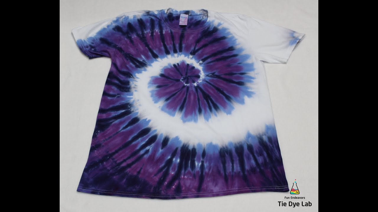 How To Tie Dye A Purple And White Spiral Shirt Youtube Tie Dye Patterns Diy Tie Dye Diy Tie Dye Tutorial [ 720 x 1280 Pixel ]