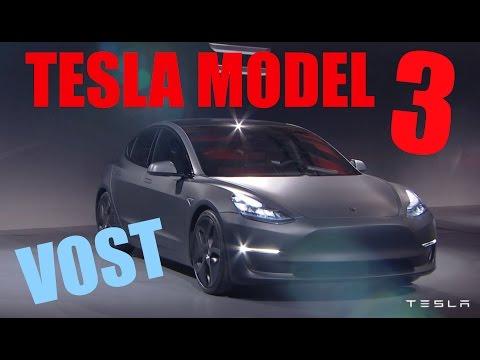 Tesla dévoile sa Model 3 (sous-titres français)