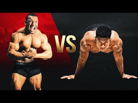 CALISTHENICS VS. JACKED POWERLIFTER (Larry Wheels)