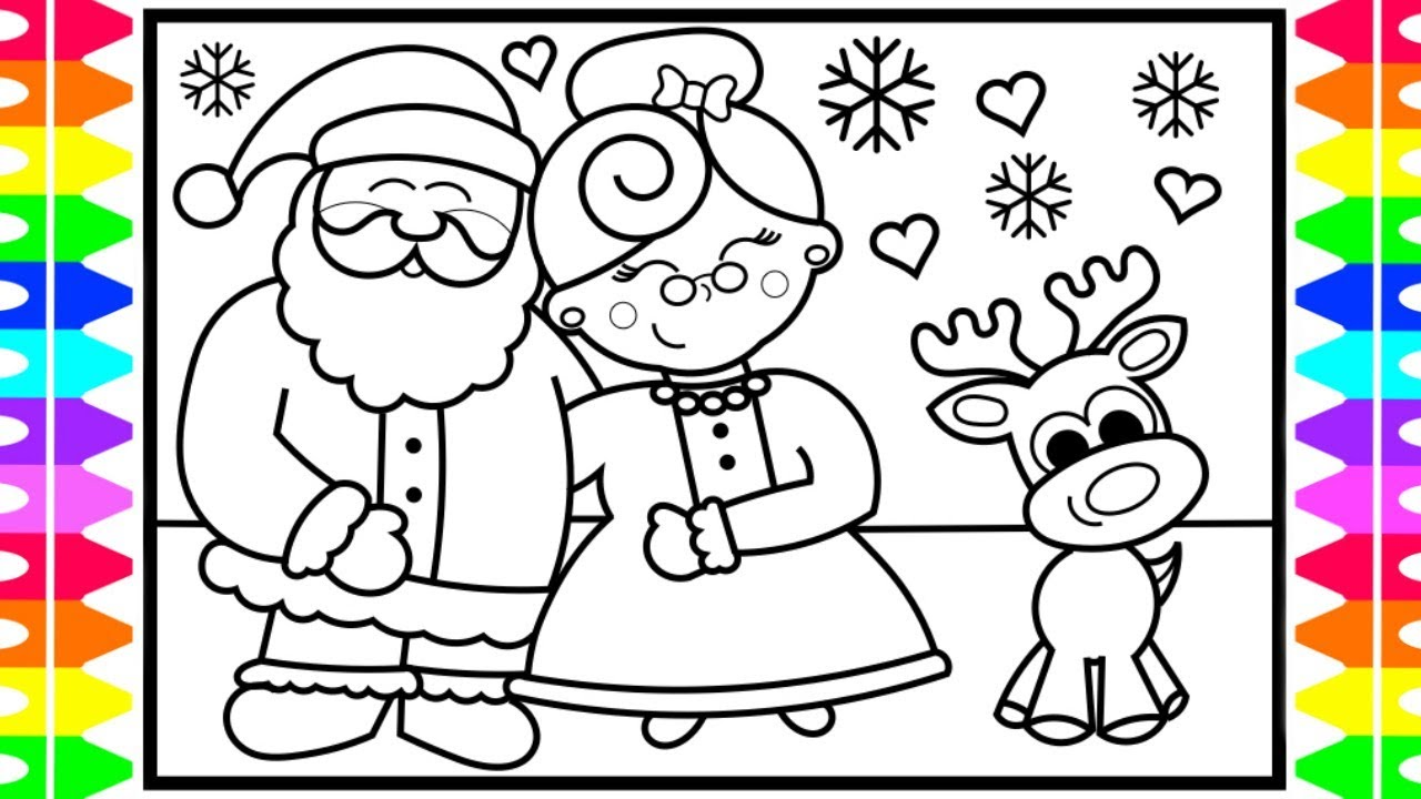 how to draw santa claus and mrs claus step by step for kids santa and mrs claus coloring pages