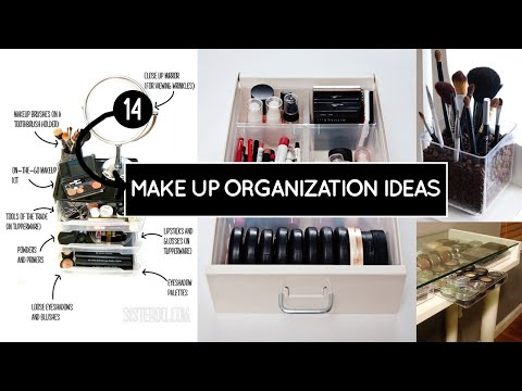 14 Make-up Organization ideas