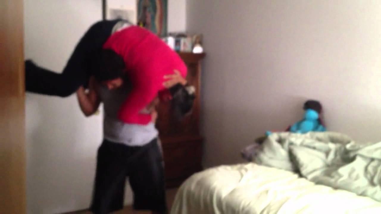Moms wrestling their sons