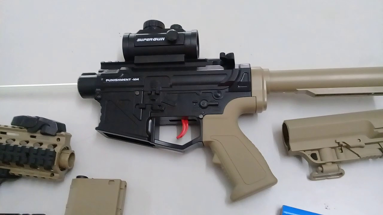 EM4 M4 Punisher Gel Gun Blaster Review