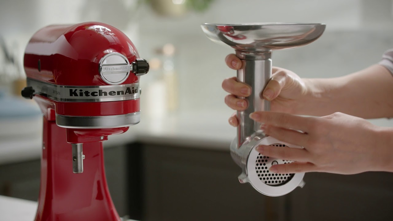 How to Assemble the New KitchenAid® Metal Food Grinder Attachment