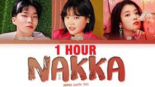 [1 HOUR] AKMU IU NAKKA Lyrics (악동뮤지션 아이유 낙하 가사) [Color Coded…
