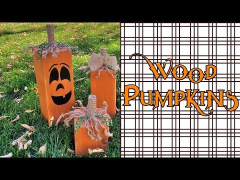 Rustic Wood Post Pumpkins anybody can make