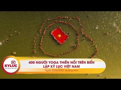 Kyluc.tv| 400 người tham gia Yoga Thiền nổi trên mặt biển lập Kỷ lục VN nhân ngày Yoga Thế giới
