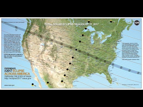 Tracing the 2017 Solar Eclipse