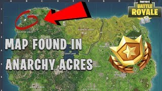 Fortnite HOW TO FIND THE ANARCHY ACRES TREASURE MAP (SECRET LOCATION) CHALLENGE