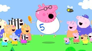 Peppa Pig Official Channel | Daddy Pig Does Fun Run for Mending Peppa Pig's School Bus