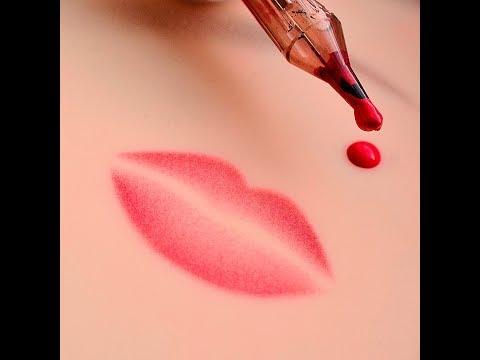Обработка губ для мастера татуажа в приложении телефона/Как поменять цвет губ