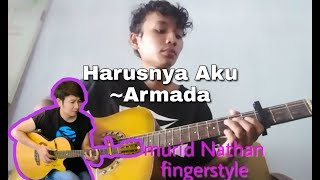Download Lagu Harusnya Aku - Armada | Fingerstyle guitar cover perkusi Nathan Fingerstyle mp3
