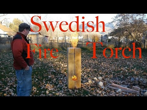 Huge Swedesh Fire Torch / Rocket Stove