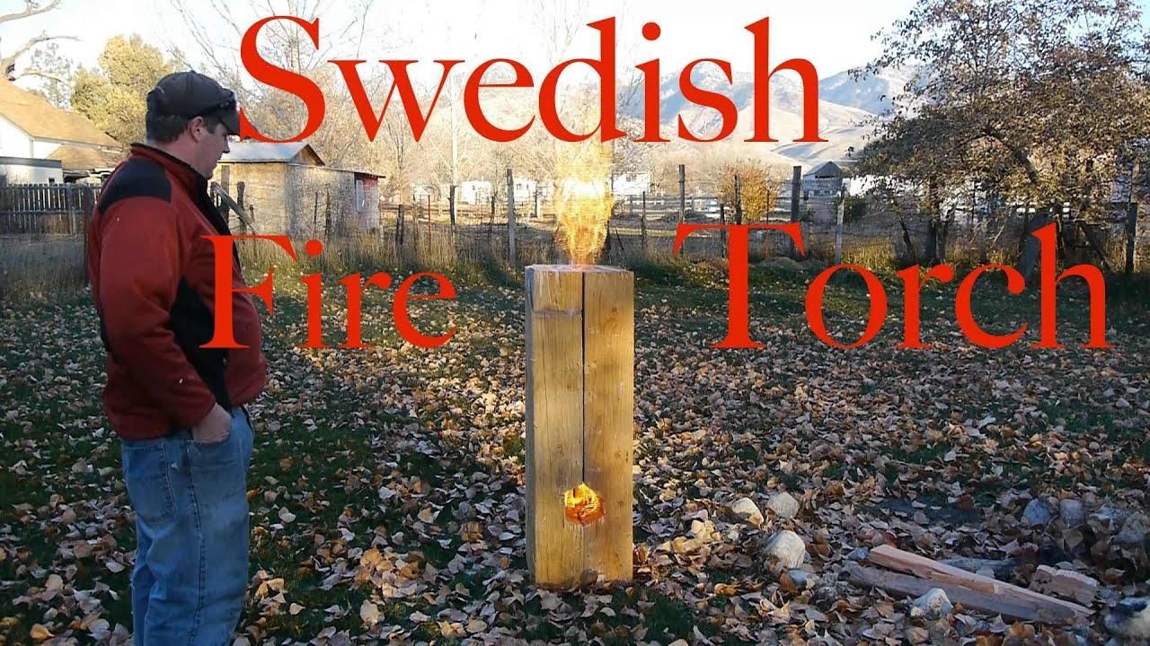 Huge Swedish Fire Torch / Rocket Stove - YouTube