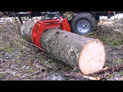 """ATV hydraulic timber trailer  """"FORESTER 3400"""""""