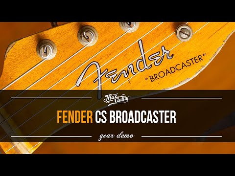 This is a TONE MONSTER | Fender CS Broadcaster 70th Anniversary in Aged Nocaster Blonde Heavy Relic