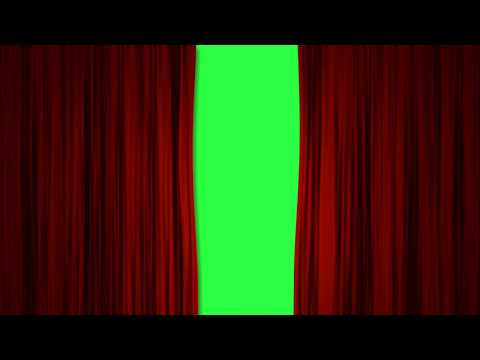 Curtain Green Screen - Intro - Red Curtains