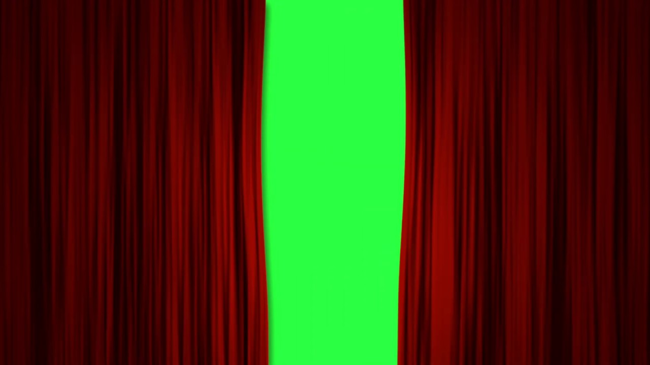 curtain green screen intro red curtains