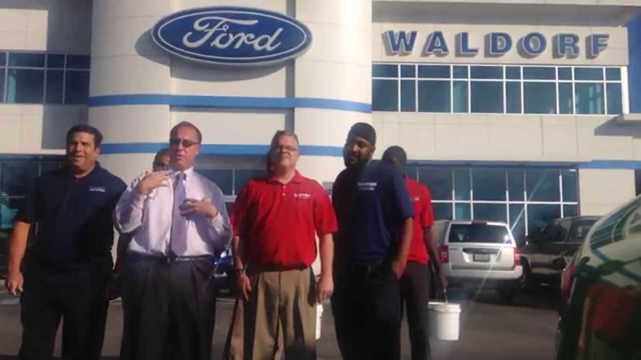 WALDORF FORD FIGHTS ALS WITH THE #ICEBUCKETCHALLENGE - YouTube