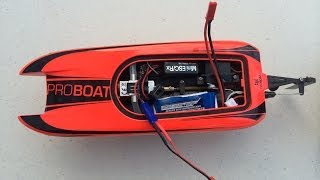 Proboat Blackjack 9 on LiPo - Fast