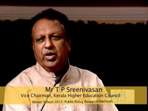 Mr T P Sreenivasan, Former Ambassador gives Key Note Address at CPPR Winter School 2013