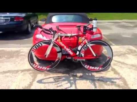 Bike Rack For Porsche Boxster 2 Tri Bike Youtube