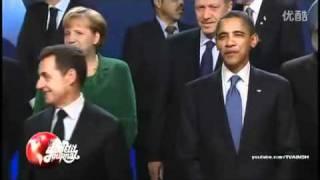 胡锦涛故意不理萨科齐,奥巴马在旁边幸灾乐祸,哈哈,笑死啦,终于知道为什么欧洲人说我们傲慢了