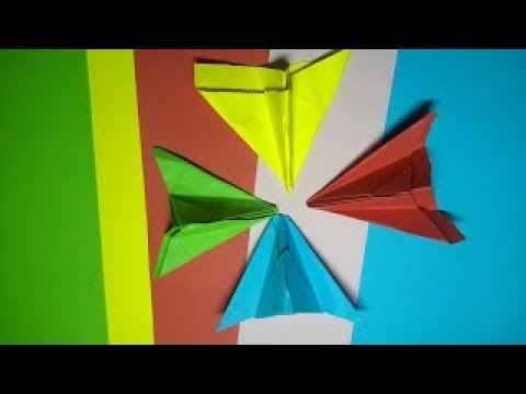 Origami paper planes, Early childhood education preschool to learn colors and paper planes