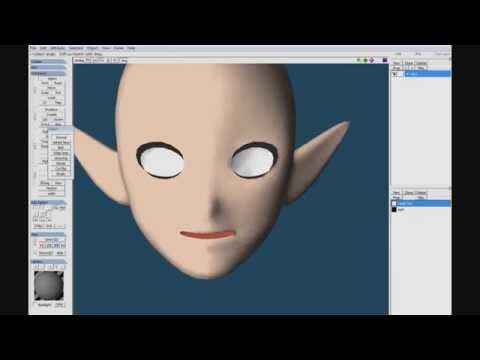 Modeling a head in Metasequoia