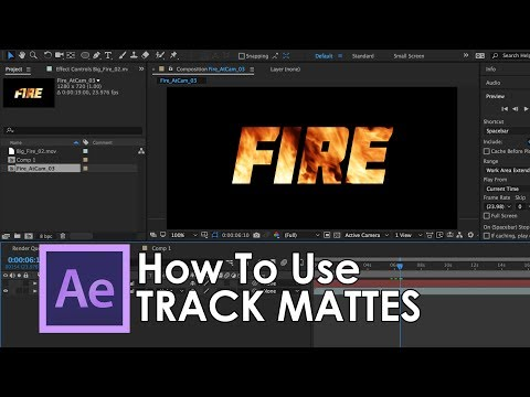 How to use Track Mattes in Adobe After Effects - Tutorial