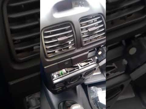 Как снять кнопку аварийки на акценте