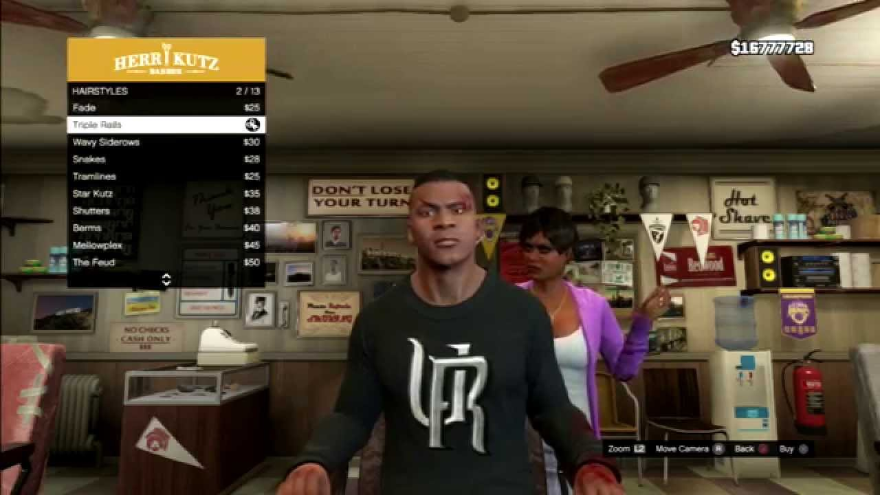 Grand Theft Auto V Franklins Haircuts And Beards Youtube