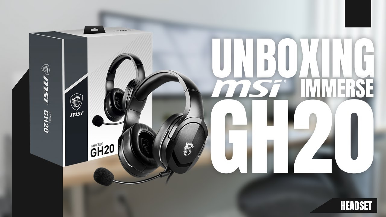Download ¡Estos Son Los Nuevos Headset de MSI! UNBOXING MSI IMMERSE GH20