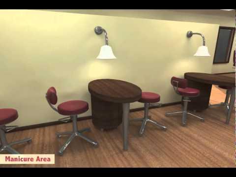 3D Modeling Of A Virtual Hair Salon