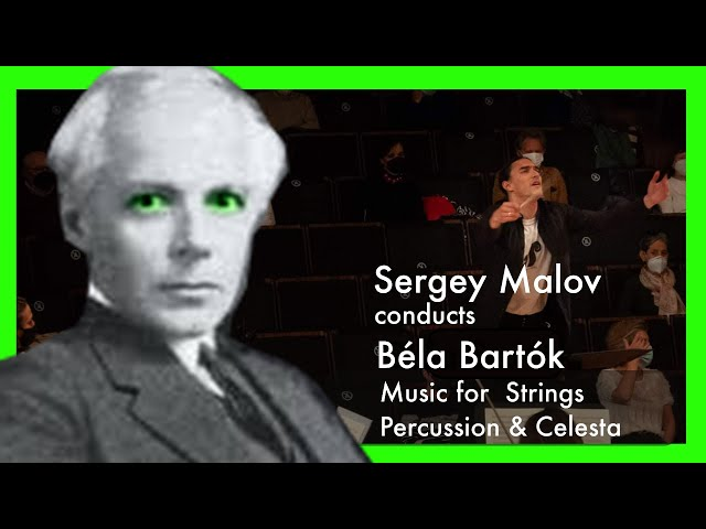 Sergey Malov conducts Bartok Music for Strings Percussions and Celesta 2 Mvt #Spallenmann #Bartok